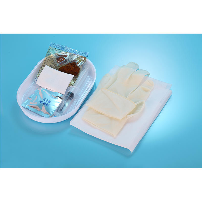Latex UrethraI Catheter Tray with foley catheter