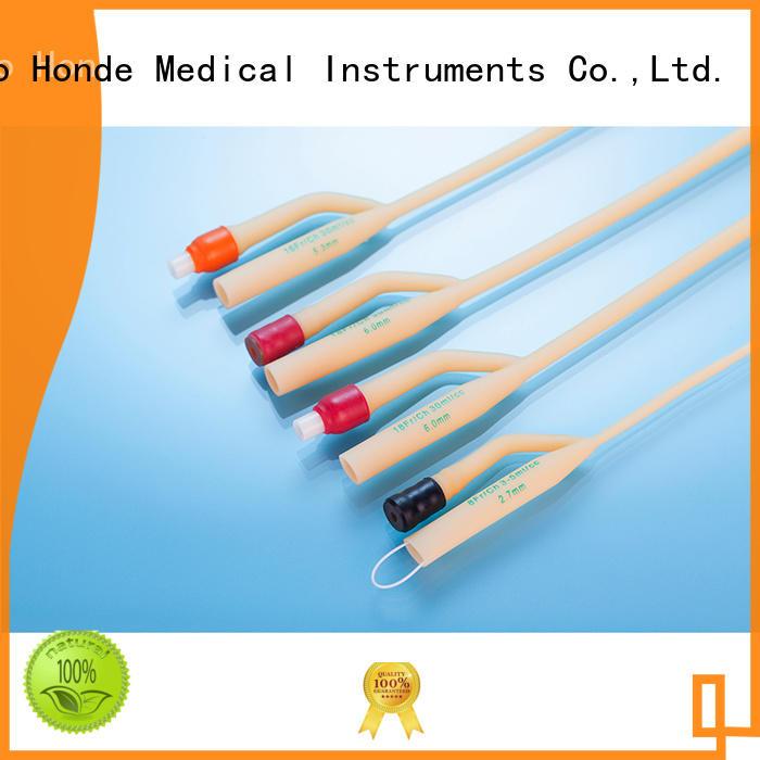 Honde drainage three way foley catheter factory for hospital