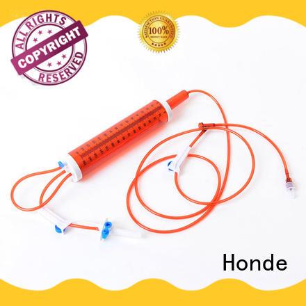 disposable blood transfusion set stopcock hypodermic syringe Honde Brand